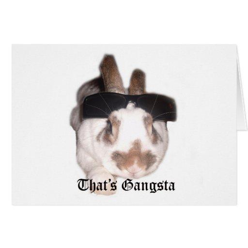 Ése es Gangsta Felicitación