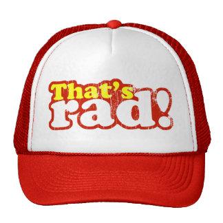 Ése es gorra del camionero del Rad