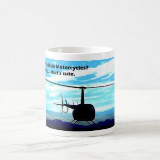Ése es helicóptero lindo taza
