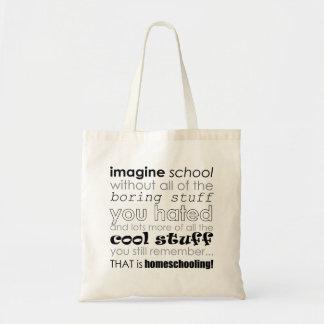 ¡ÉSE es Homeschooling! Bolso Bolsa Tela Barata