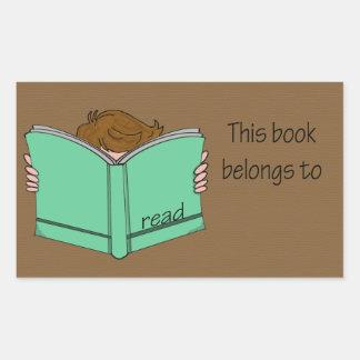 Ése es mi libro 1 pegatina rectangular