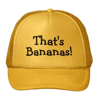 Ése es plátanos gorros bordados