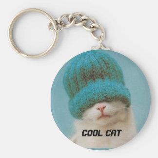 Ése es un gato fresco llavero