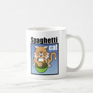 Ese gato loco de los espaguetis taza clásica