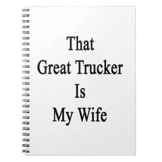Ese gran camionero es mi esposa notebook