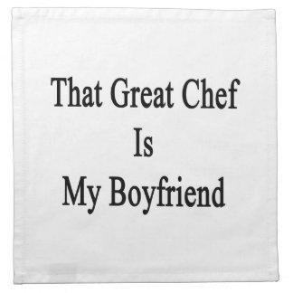 Ese gran cocinero es mi novio servilletas