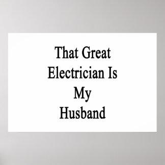 Ese gran electricista es mi marido posters