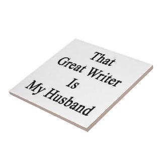 Ese gran escritor es mi marido azulejos cerámicos