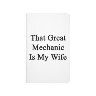Ese gran mecánico es mi esposa cuadernos grapados