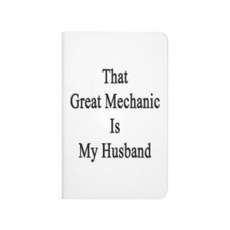 Ese gran mecánico es mi marido cuadernos grapados