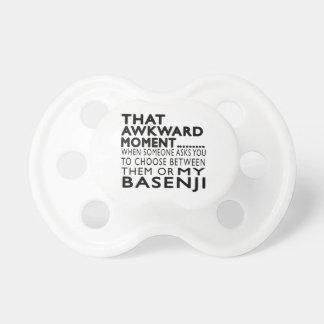 Ese momento torpe Basenji Chupetes Para Bebes