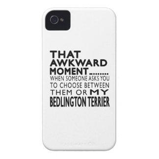 Ese momento torpe Bedlington Terrier Case-Mate iPhone 4 Cárcasas
