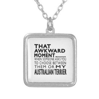 Ese momento torpe Terrier australiano Joyeria Personalizada