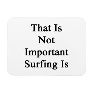 Ése no es el practicar surf importante es imán flexible