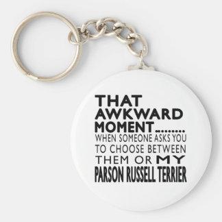 Ese párroco torpe Russell Terrier del momento Llaveros