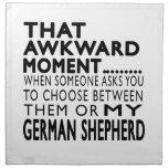 Ese pastor alemán del momento torpe servilletas
