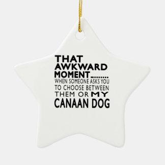 Ese perro torpe de Canaan del momento Adorno De Cerámica En Forma De Estrella