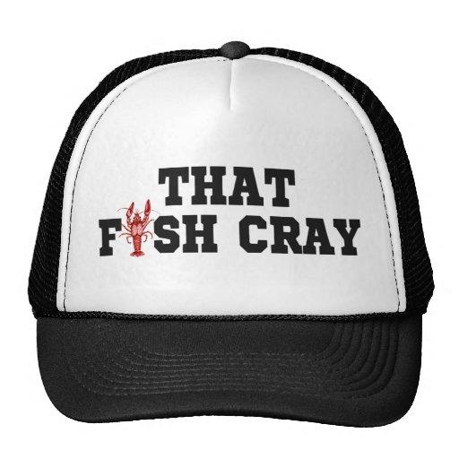 ese pescado cray gorros bordados