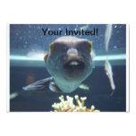 Ese pescado del diente de conejo invita invitaciones personales