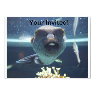 """Ese pescado del diente de conejo invita invitación 5"""" x 7"""""""