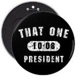 Ese un 10-08 botón negro del presidente Barack Oba Pins