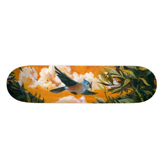 "ESEL02: ""Tufted Titmouse"" Skateboard Deck"
