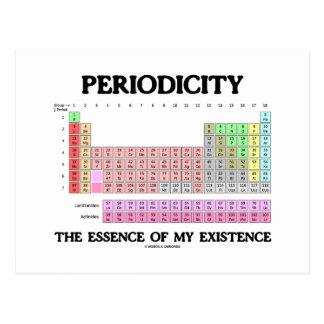 Esencia de la periodicidad mi existencia (tabla pe tarjeta postal