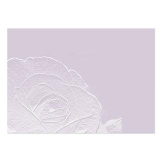 Esencia de la tarjeta de visita color de rosa del