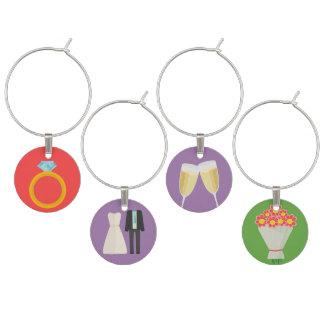 Esencial del boda identificadores de copas