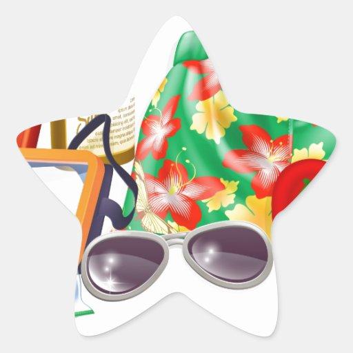 Esencial del día de fiesta calcomania forma de estrella