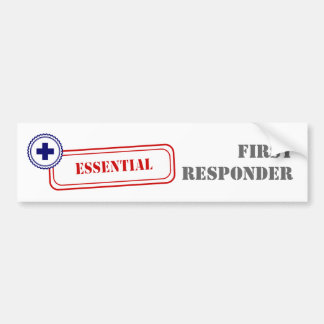 Esencial • Primer respondedor Pegatina Para Auto