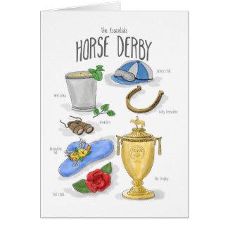 Esencial: Tarjeta de Derby del caballo