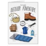 Esencial: Tarjeta que acampa de la aventura al