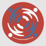 ESF Red Sticker Large with Website