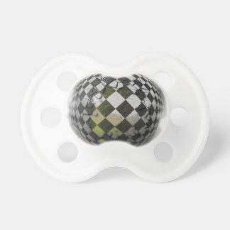 Esfera a cuadros 2 chupete de bebe