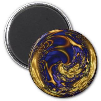 Esfera afiligranada del oro imán redondo 5 cm