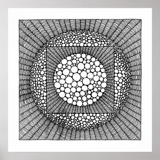 Esfera ajustada posters