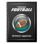 Esfera azul - cuaderno del fútbol de la fantasía