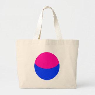 Esfera azul rosada bolsa tela grande