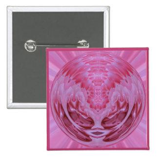 Esfera color de rosa rosada pin