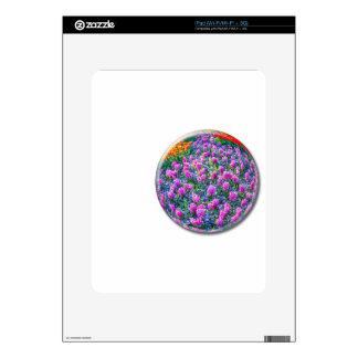 Esfera cristalina con los jacintos rosados en skins para iPad
