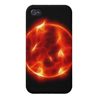 Esfera de la estrella del solenoide de Sun iPhone 4 Carcasa