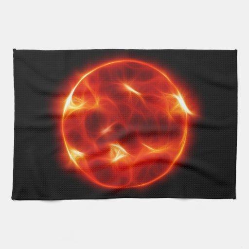 Esfera de la estrella del solenoide de Sun Toallas De Mano