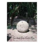 Esfera de piedra de Rican de la costa Postales