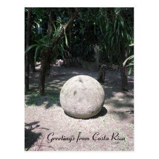 Esfera de piedra de Rican de la costa Tarjeta Postal