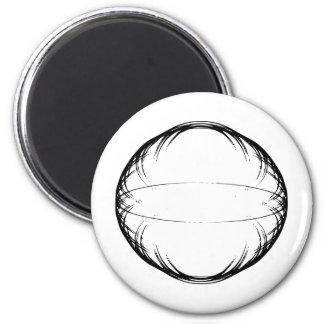 esfera del sostenido de los julis imán redondo 5 cm