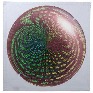 Esfera fósil de la onda servilletas
