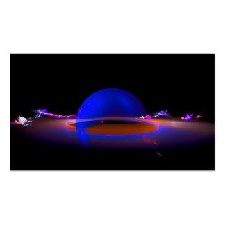 Esfera generada por ordenador del planeta del frac tarjetas de visita