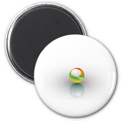 esfera multicolora imán para frigorifico