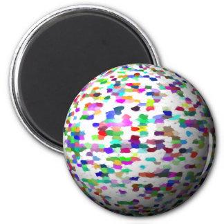 esfera pintada imán redondo 5 cm